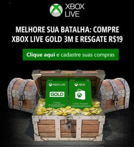 Compre Xbox Live Gold de 3 meses e resgate um código digital de R$19