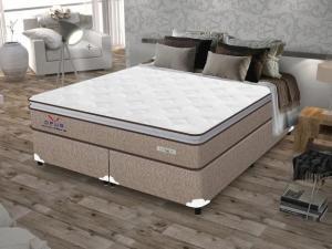 Cama Box (Box + Colchão) Queen Size Molas - Ensacadas/Pocket 65cm de Altura Plumatex Ópus por R$ 1000