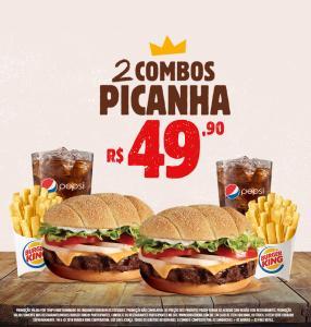 2 Combo Picanha no Burger King - R$49,90