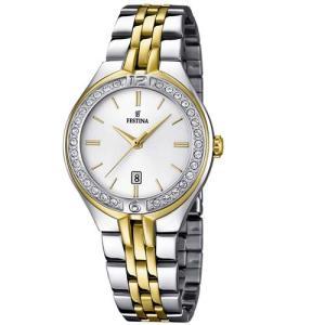 Relógio festina feminino aço dourado e prata - f16868/1 - R$273