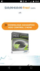 GRÁTIS Ashampoo HDD Control 2