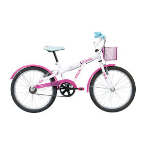 Bicicleta Infantil Aro 20 Caloi Barbie Branca - R$399