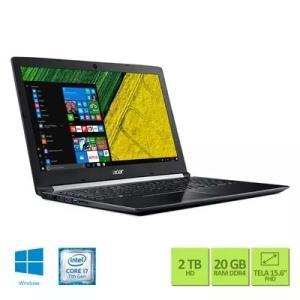 Notebook Acer A515-51G-70UP i7-7500u  20GB RAM, 2TB GTX 940M - R$ 3999