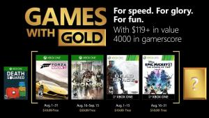 Xbox Live Gold Agosto 2018
