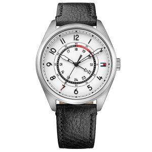 Relógio tommy hilfiger masculino couro preto - 1791373 - R$312