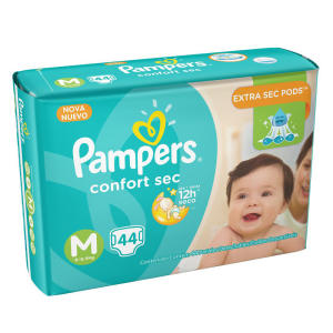 [BSB] Fralda Pampers Confort Sec Tamanho M 44 U no Minuto Pão de Açúcar pela Rappi - R$31