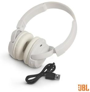 Fone Ouvido Sem Fio Jbl On Ear Headphone Branco Jblt450btwht - R$160