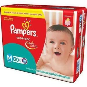Fraldas Pampers Supersec M - R$30