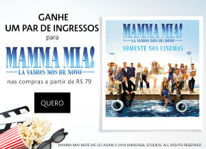Ganhe um par de ingressos para filme Mamma Mia 2 nas compras acima de R$ 79