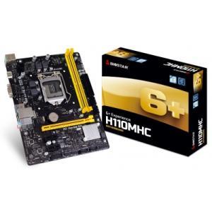 Placa Mãe Biostar 6+ Experience H110MHC DDR4 LGA 1151 - R$249