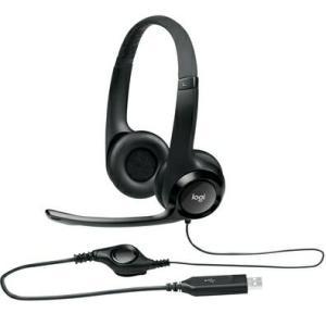 Headset Logitech H390 USB 2.0 em Couro com Controle de Volume - R$103
