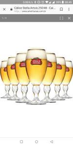 24 Taças de cerveja Stella Artois