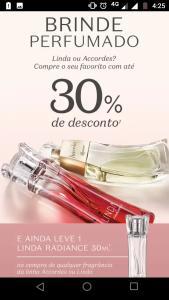 30% de desconto em perfumes selecionados da Boticário + Brinde