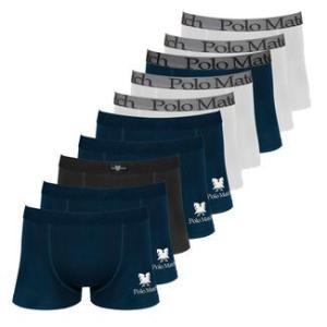 Kit Com 10 Cuecas Boxer de Cotton 4.0 - Polo Match R$ 53,90