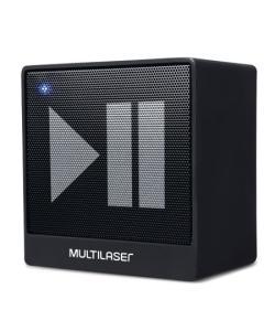 Caixa de Som Mini Aux 8W Bluetooth Preto Multilaser - SP277