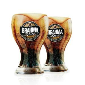 Conjunto com 02 Copos Chopp Brahma Black 430ml Caixa Litografada