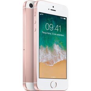 iPhone SE 128GB Ouro Rosa IOS 4G Câmera 12MP - Apple | R$1.599