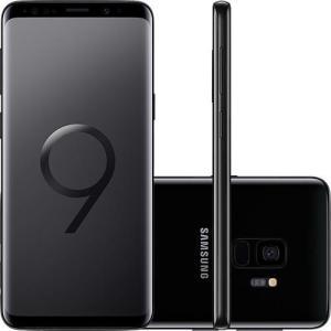 "[AME]Smartphone Samsung Galaxy S9 Dual Chip Android 8.0 Tela 5.8"" Octa-Core 2.8GHz 128GB 4G Câmera 12MP - Preto"