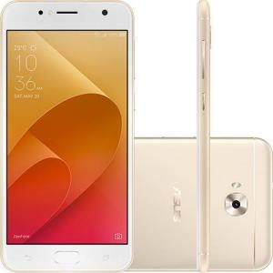 Smartphone Asus ZenFone Selfie Dual Chip Android Nougat 7.0 Tela 5.5 Qualcomm Snapdragon 16GB 4G Câmera 13MP + Frontal 13MP - Dourado - R$539