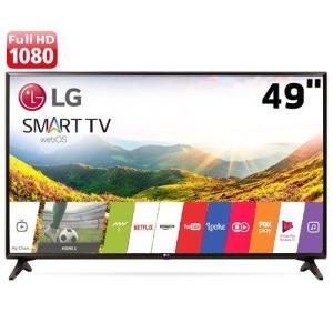 "Smart TV LED 49"" Full HD LG 49LJ5550 com Painel IPS, Wi-Fi, WebOS 3.5, Time Machine Ready, Magic Zoom, Quick Access, HDMI e USB - R$1.899"