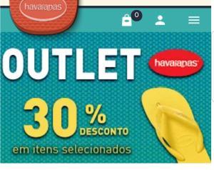 30% OFF em produtos selecionados Havaianas