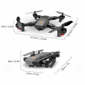 VISUO XS809W Versão Atualizada XS809HW 2.4G Quadcopter RC Foldable Wifi FPV Selfie Drone - RTF por R$ 143