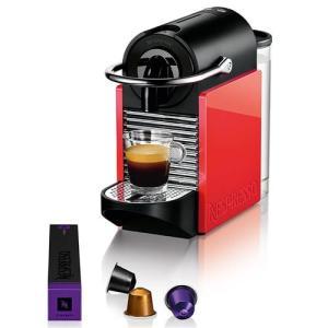 Cafeteira Nespresso Pixie Clips C60 com Kit Boas Vindas - Branca/Coral Neon - R$250