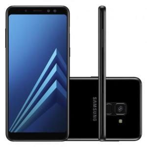 """Smartphone Samsung Galaxy A8+ Preto Dual Chip Android 7.1 Tela 6"""" Memória 64GB 4GB RAM Câmera Traseira 16MP Dual Câmera Frontal 16MP+8MP (14231) - R$1899"""