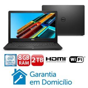 "Dell Core i7-7500U 8GB 2TB Tela 15.6"" Linux Inspiron I15-3567"