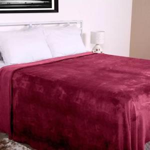 Cobertor Casal Microfibra Home Design Corttex Cereja | R$30