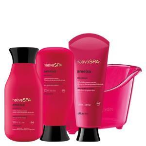 Kit para os cabelos nativa SPA Ameixa Boticário - R$ 133