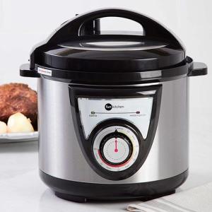 Panela de Pressão Elétrica Fun Kitchen Preta 4L  por R$ 100