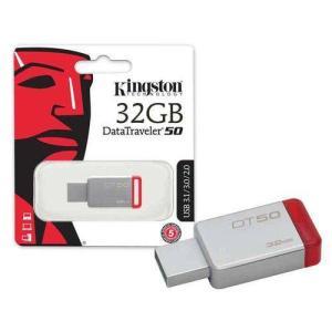 8185 Pen Drive Usb 3.1 Kingston Dt50/32gb Datatraveler 50 32gb Metal Vermelho  R$ 43,80
