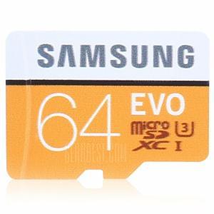 Samsung EVO Ultra Micro SDXC UHS-3 Cartão de Memória Profissional - LARANJA + BRANCO 64GB por R$ 67
