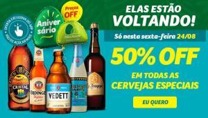 50% off em todas as cervejas especiais