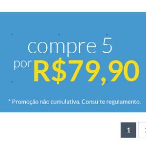 5 Blu-Rays por R$80