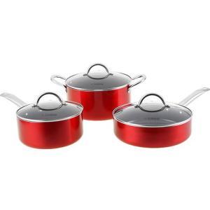 Conjunto de Panelas La Cuisine Eccellenza 3 Peças - Vermelho | R$107