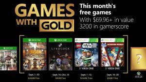 Xbox live gold Setembro 2018