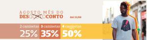Até 50%OFF em camisetas na ChicoRei