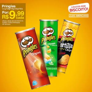 """[Americanas - Loja Física] """"Batata"""" Pringles por R$ 9,99"""
