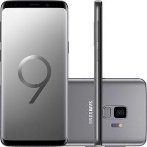"Samsung Galaxy S9 Dual Chip Android 8.0 Tela 5.8"" Octa-Core 2.8GHz 128GB 4G Câmera 12MP - Cinza | R$2.974"