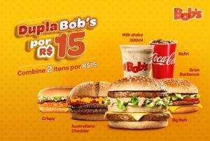 Dupla Bob's - 2 itens por R$15