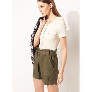 Shorts LE LIS BLANC Emily Sarja Verde Feminino - R$110