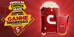 Promoção Cinemark Pipoca Dá Cinema - Compre pipoca e bebida ganhe um ingresso