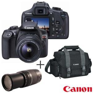 Camera Digital Canon EOS Rebel T6 DSLR Profissional 18MP - EOST6 + Bolsa Gadget Bag - 300DG + Lente Zoom Telefoto - N5CJEOST6PTO00