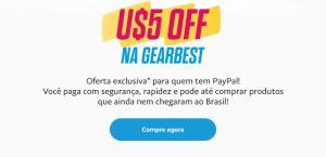 U$5 OFF na GEARBEST pagando com PayPal