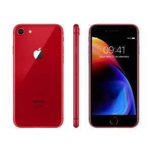 """iPhone 8 Apple RED Special Edition 64GB Tela Retina HD 4.7"""" iOS11 Câmera 12MP Vermelho - R$2982"""