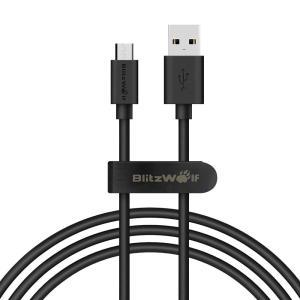 BlitzWolf  BW-CB7 2,4A 3,33ft/1m Cabo de Dados Carregamento Micro USB com Cinta de Fita Mágica R$9