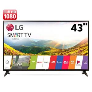 "Smart TV LED 43"" LG 43LJ5550 Full HD com Painel IPS, Wi-Fi, WebOS 3.5, Time Machine Ready, Magic Zoom, Quick Access - R$ 1359"