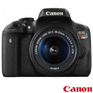 """Câmera Digital Canon EOS Rebel T6i DSLR com 24.2 MP, Tela 3"""", Zoom Óptico de 3x e Gravação em Full HD - EOST6I - N5EOST6IPTO_PRD"""